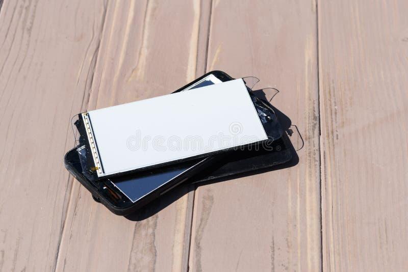 ?? 残破的手机 m r 图库摄影