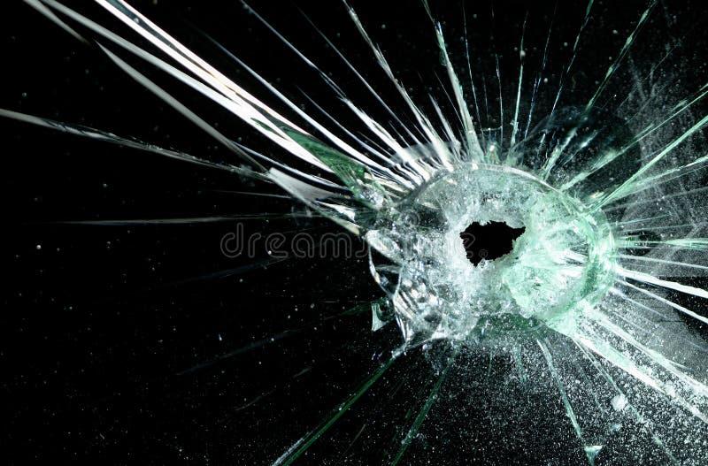 残破的挡风玻璃 库存图片