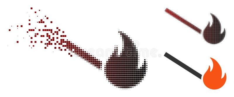 残破的映象点中间影调被射击的比赛象 库存例证