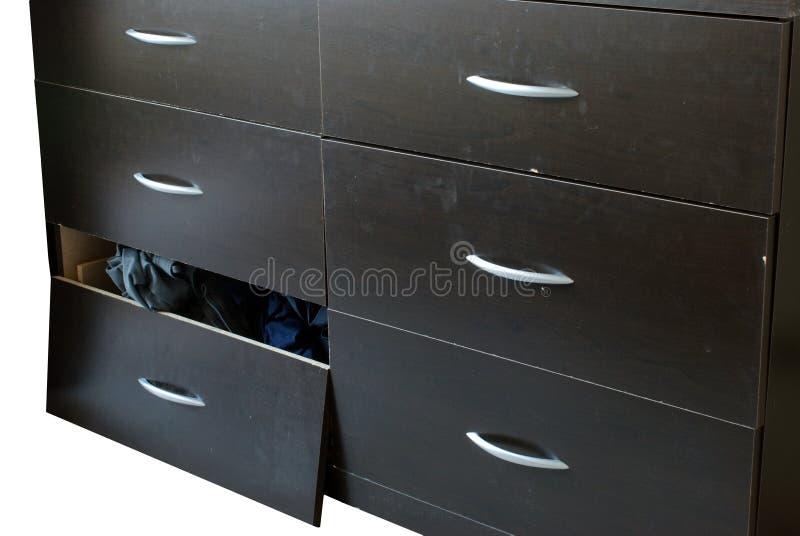 残破的梳妆台家具 免版税库存图片