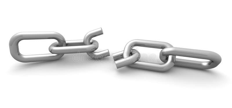 残破的概念连接数互联网链接 库存例证