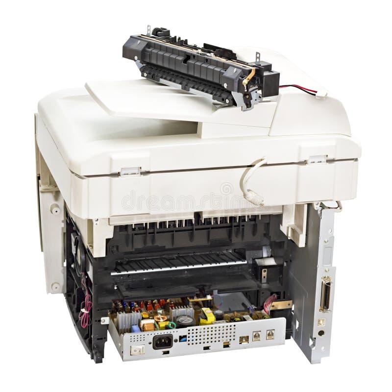 残破的激光打印机 免版税库存图片