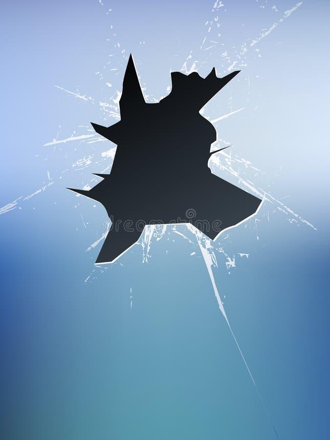 残破的玻璃向量 向量例证