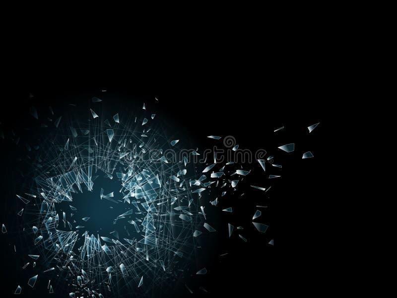 残破的玻璃墙纸 皇族释放例证