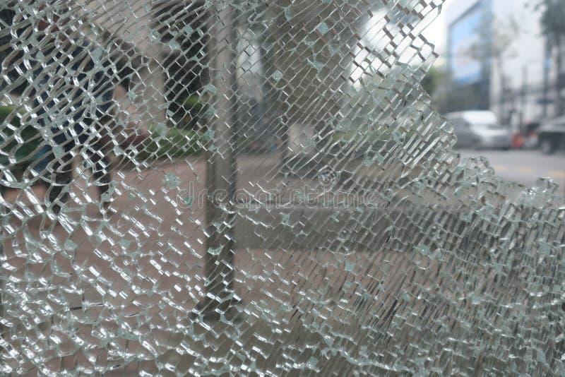 残破的玻璃模式 库存照片