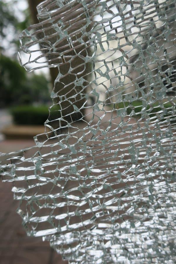残破的玻璃模式 免版税库存图片