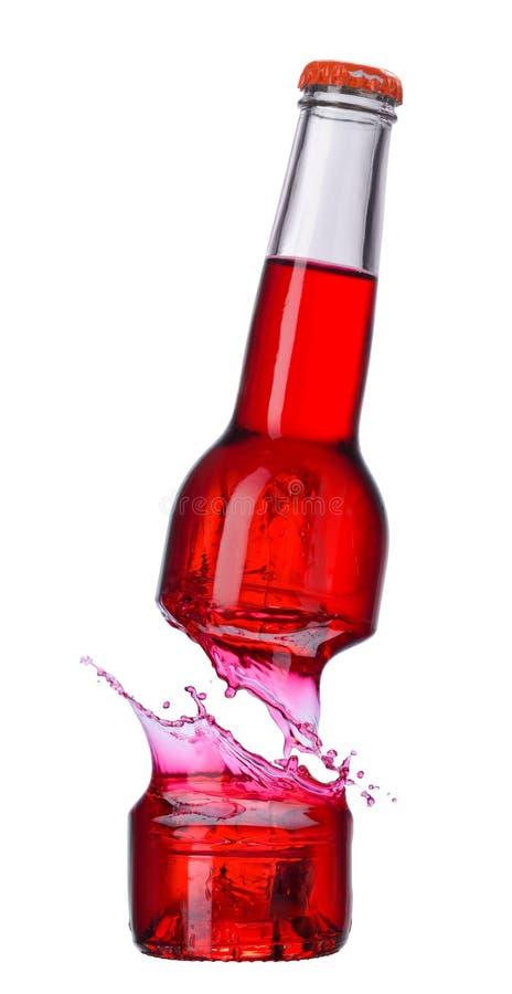 残破的玻璃饮料瓶 免版税库存图片