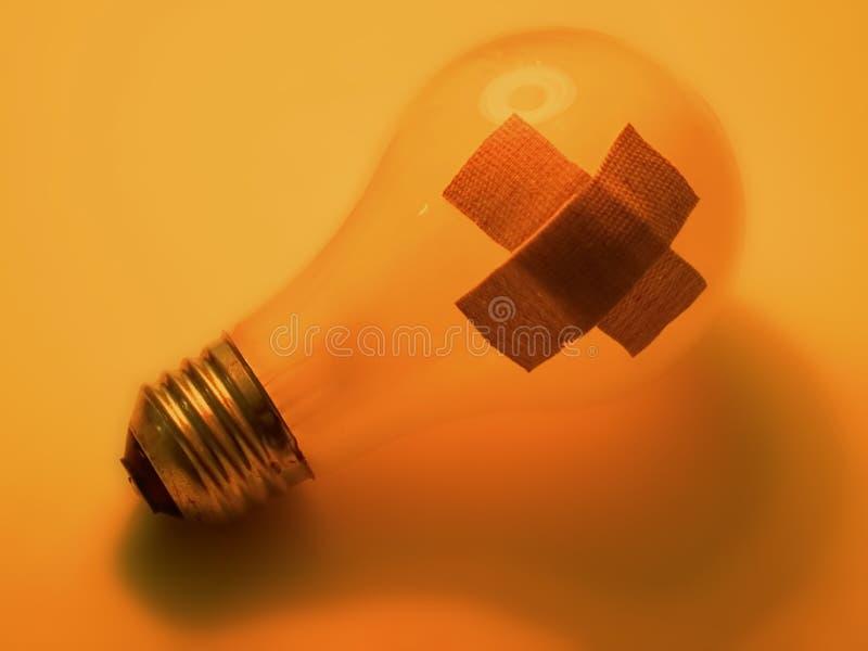 残破的电灯泡 图库摄影