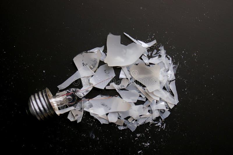 残破的电灯泡 免版税库存图片