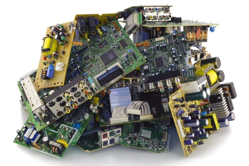 残破的转储电子垃圾 免版税库存图片