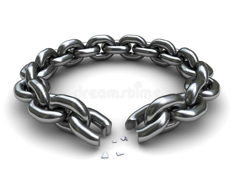 残破的链子 库存例证