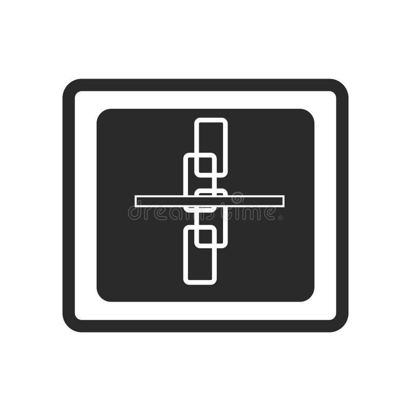残破的链接象在白色backgr隔绝的传染媒介标志和标志 向量例证
