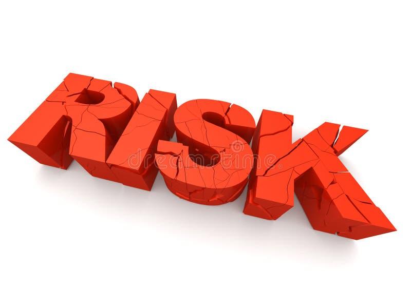 残破的风险 向量例证