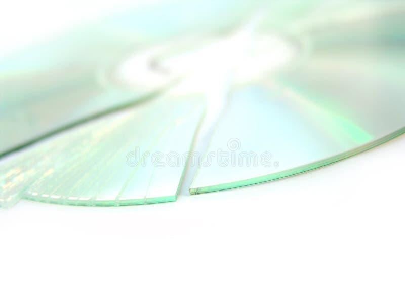 残破的CD的dvd 免版税库存图片