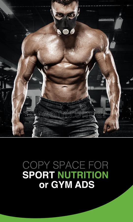残酷坚强的肌肉加大爱好健美者运动的人干涉 锻炼和体型概念 人做 库存照片