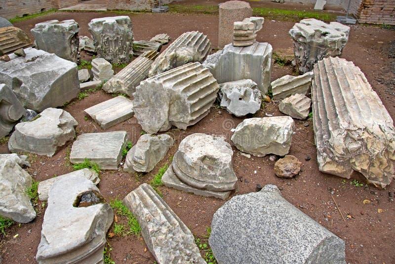 残骸意大利罗马废墟 免版税图库摄影