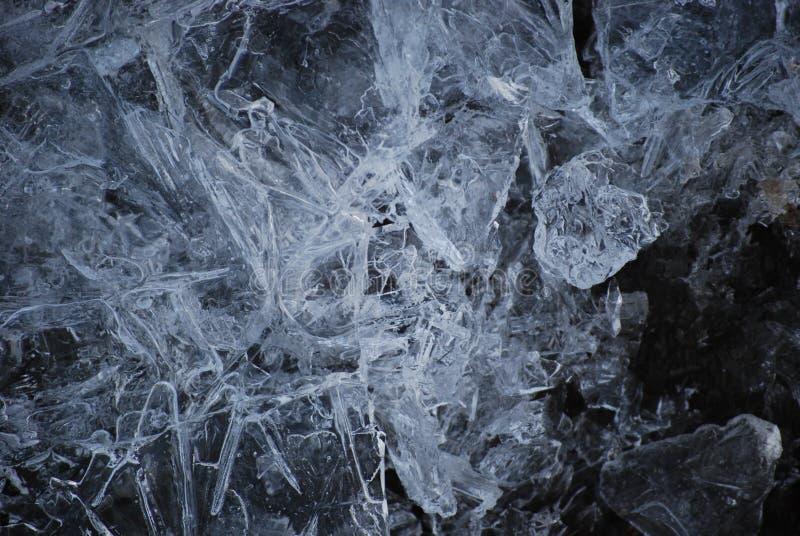 残破的冰晶 免版税图库摄影