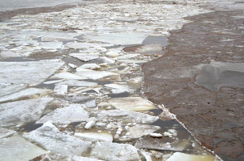 残破的冰 库存照片