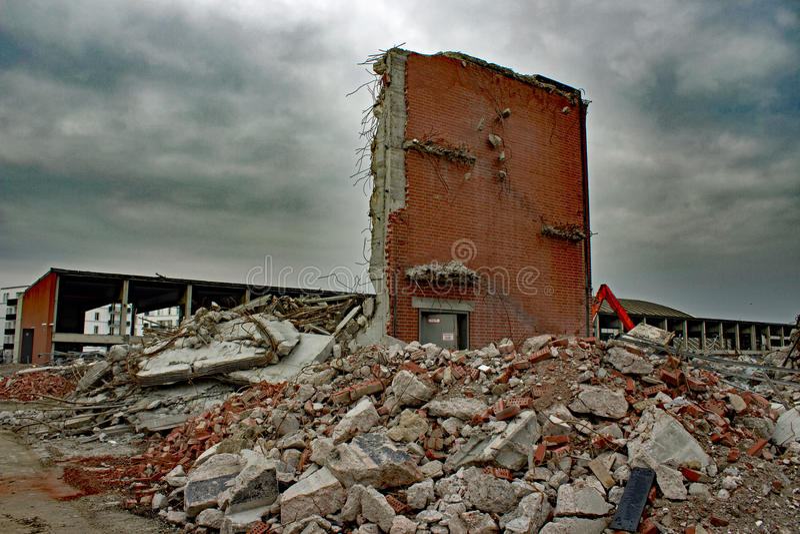 残破的墙壁 库存照片