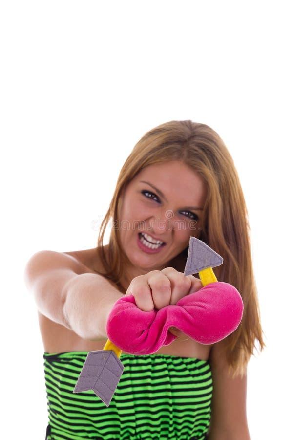 残暴的女孩伤心 免版税图库摄影