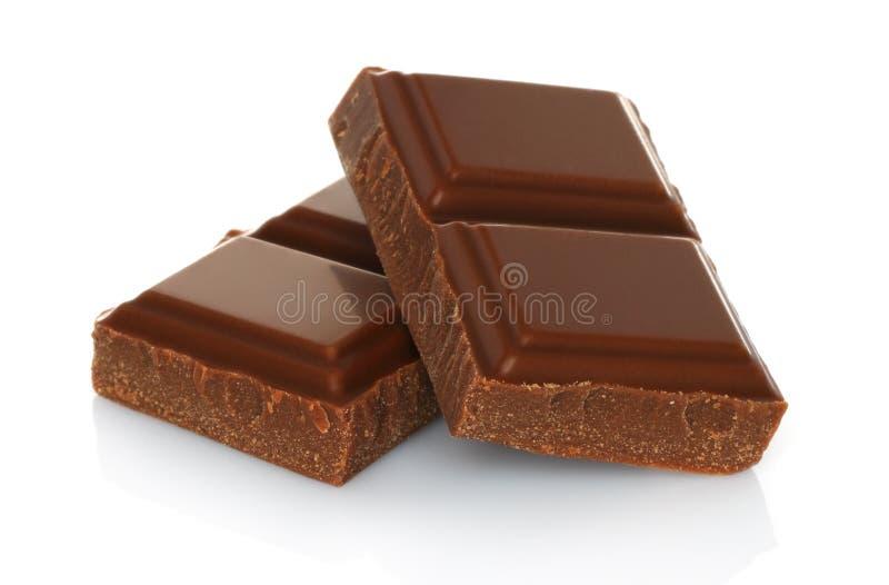 残破的巧克力块 免版税库存图片