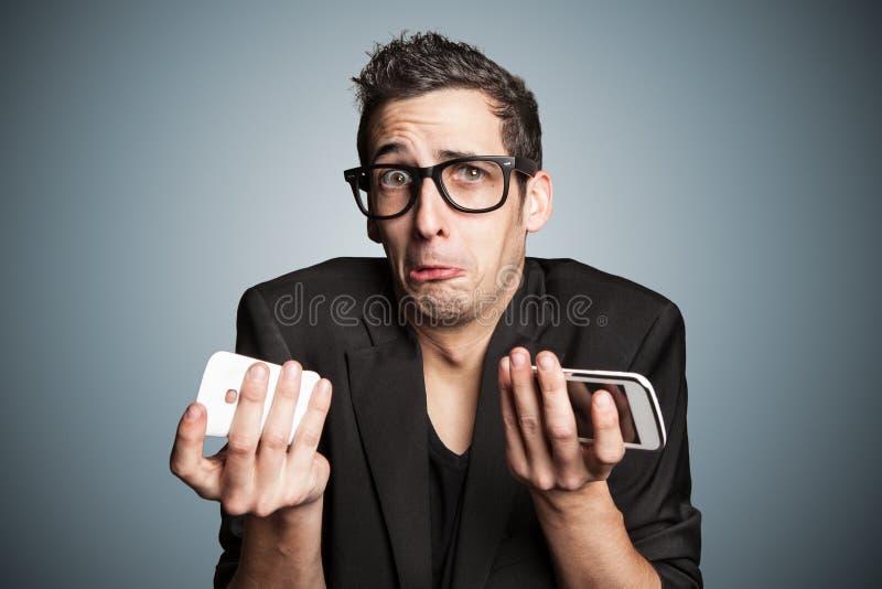 残破的智能手机 库存照片