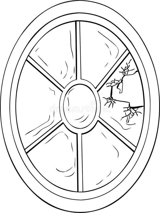 残破的椭圆形的窗口 皇族释放例证