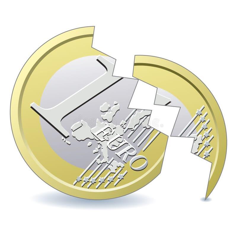残破的欧洲硬币 免版税库存图片