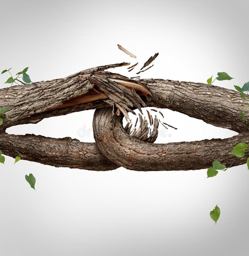 残破的链概念 向量例证