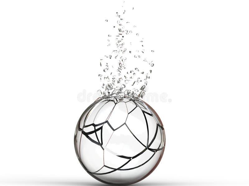 残破的玻璃球 库存例证