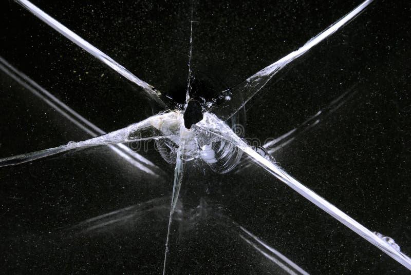 残破的玻璃窗 库存图片