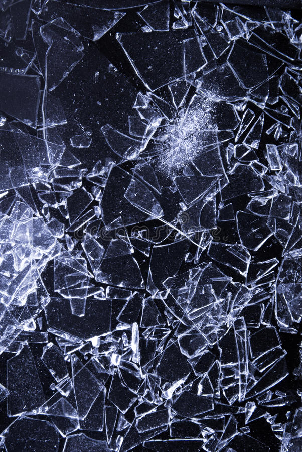 残破的玻璃背景 免版税库存图片