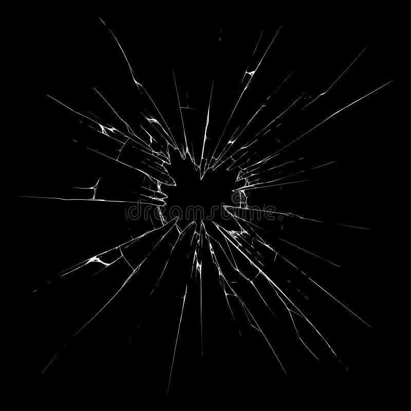 残破的玻璃 向量例证