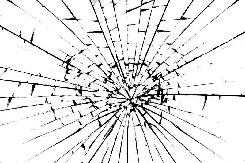 残破的玻璃 皇族释放例证