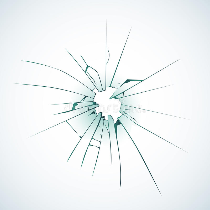 残破的结霜的窗玻璃或前门玻璃背景装饰现实白天设计格式 向量例证