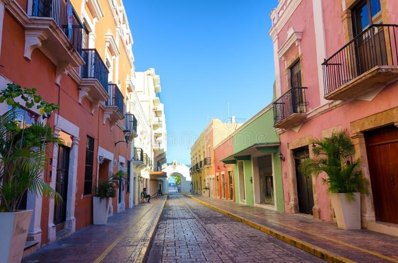 殖民地坎比其,墨西哥 免版税库存照片
