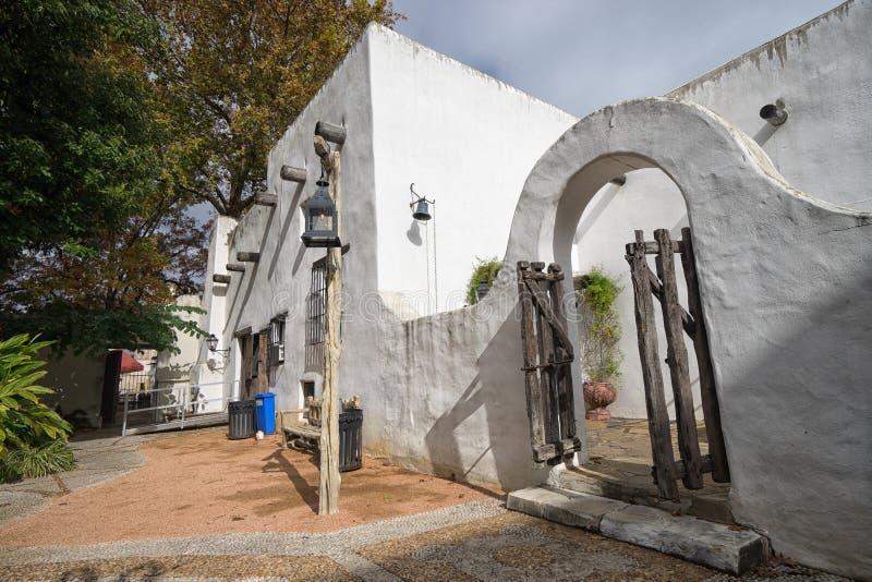 殖民地建筑学在圣安东尼奥得克萨斯 免版税库存照片