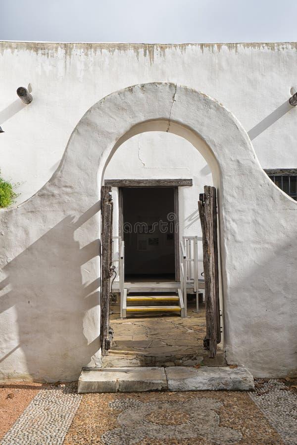 殖民地建筑细节圣安东尼奥得克萨斯 免版税库存图片