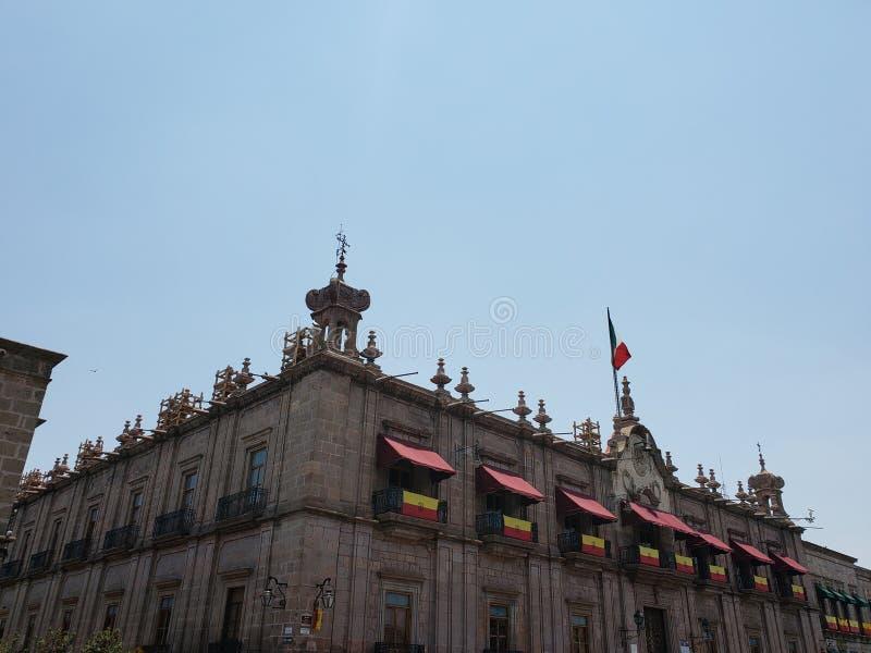 殖民地样式建筑学在墨瑞利亚,墨西哥  库存照片