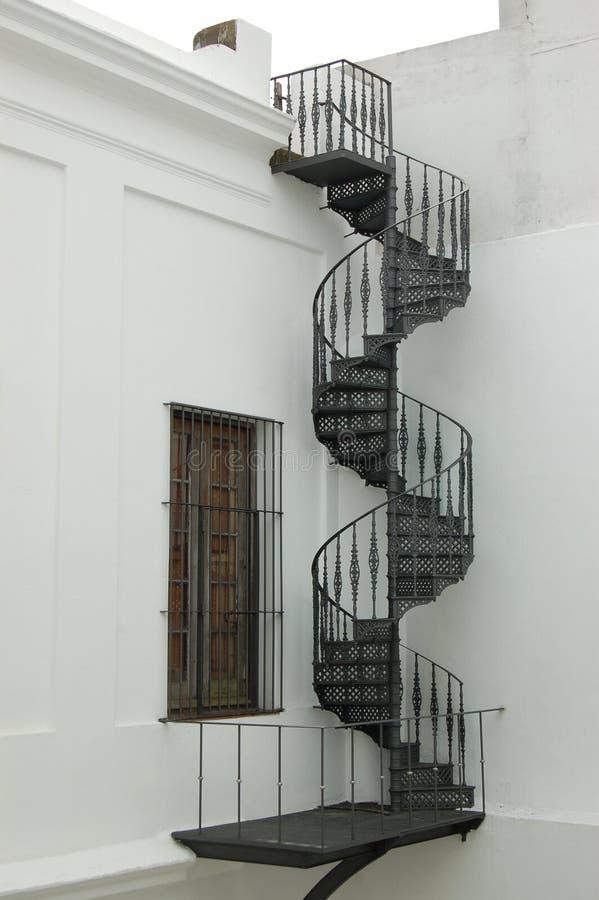 殖民地螺旋形楼梯 库存图片