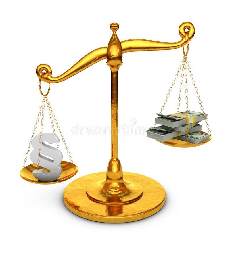 段和美元在等级 向量例证