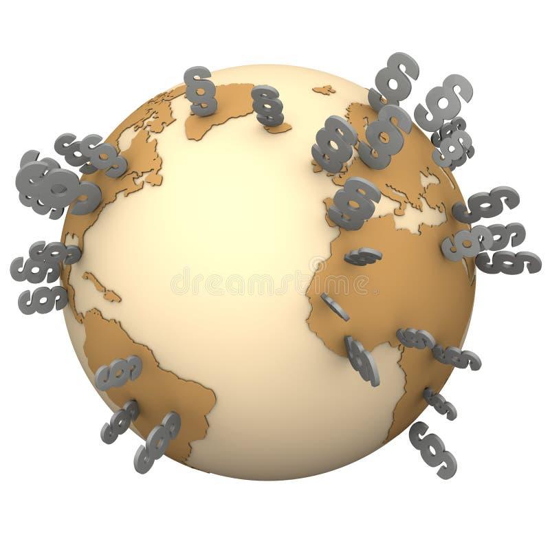 段地球 向量例证