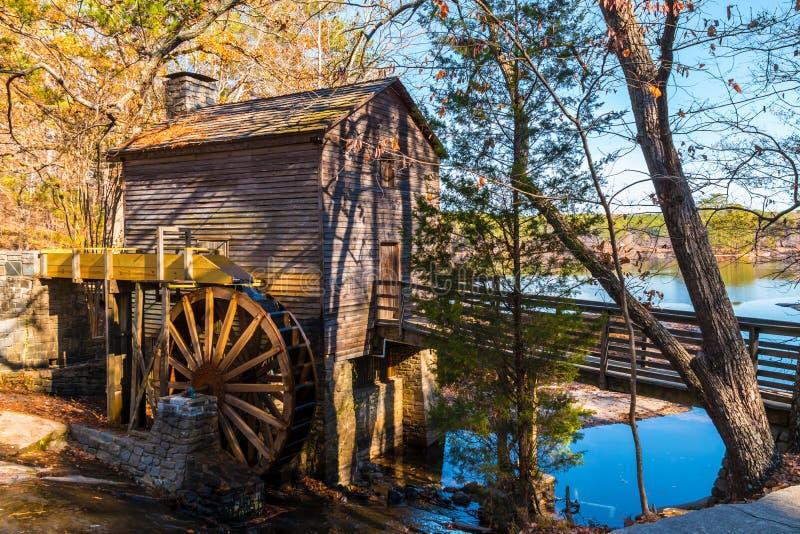 段磨房在斯通山公园,美国 免版税库存图片
