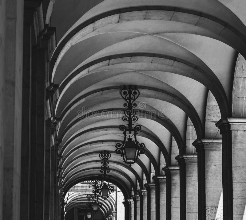 段落archs和灯 库存照片