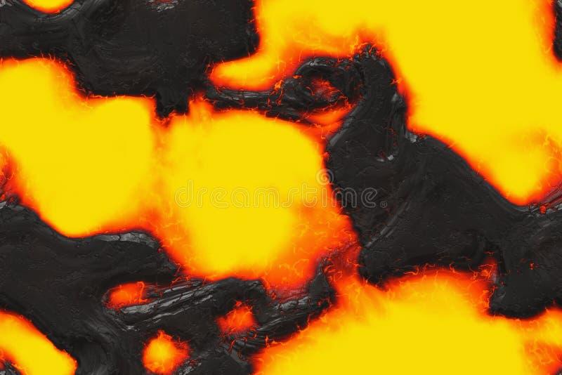 毁坏溶解的自然样式 被构造的抽象熔岩 向量例证