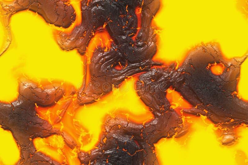 毁坏溶解的自然样式 被构造的抽象熔岩 皇族释放例证
