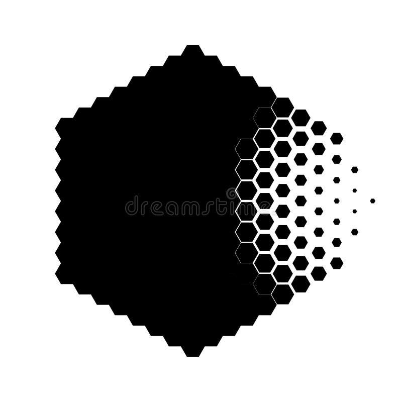 毁坏的微粒的抽象概念 向量例证