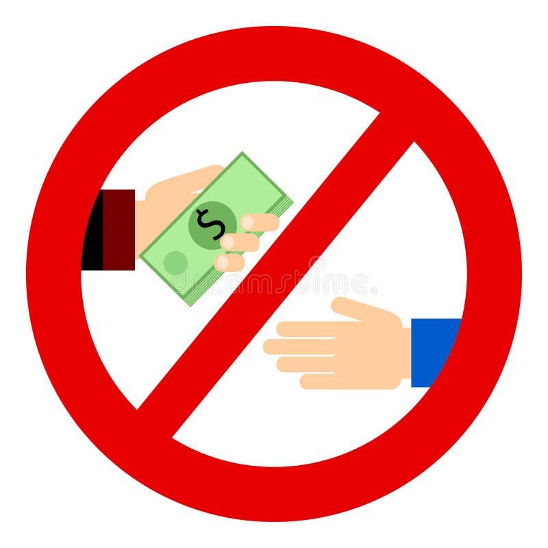 毁坏 商人给贿款 库存例证