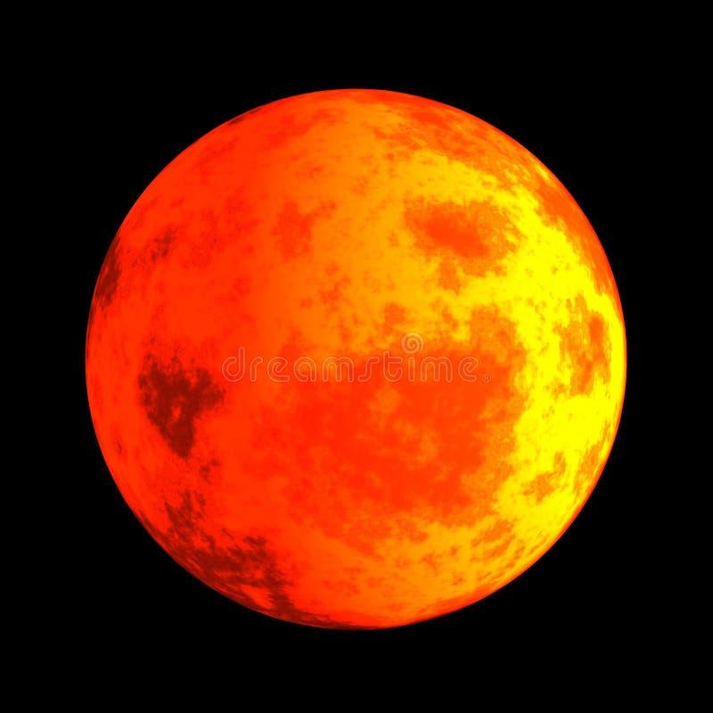 毁损行星红色 皇族释放例证