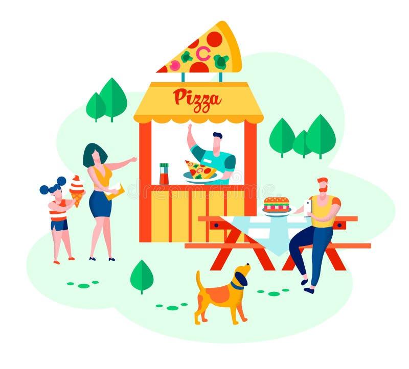 母亲、父亲、女儿和狗幸福家庭  库存例证
